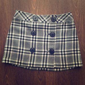 Express Design Studio Plaid Mini Skirt